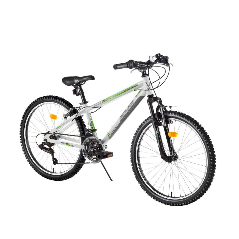 """Juniorský horský bicykel DHS Terrana 2423 24"""" - model 2017 White - Záruka 10 rokov"""