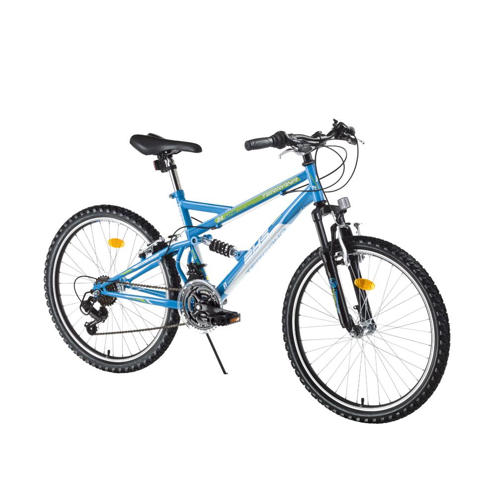 Juniorský celoodpružený bicykel DHS 2445 24