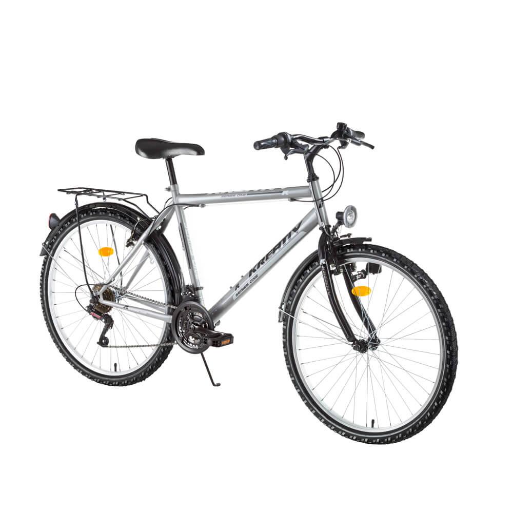 "Trekingový bicykel Kreativ 2613 26"" - model 2017 Grey - Záruka 10 rokov"