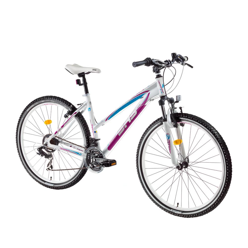 """Dámsky horský bicykel DHS Terrana 2622 26"""" - model 2017 White-Pink - 16,5"""" - Záruka 10 rokov"""