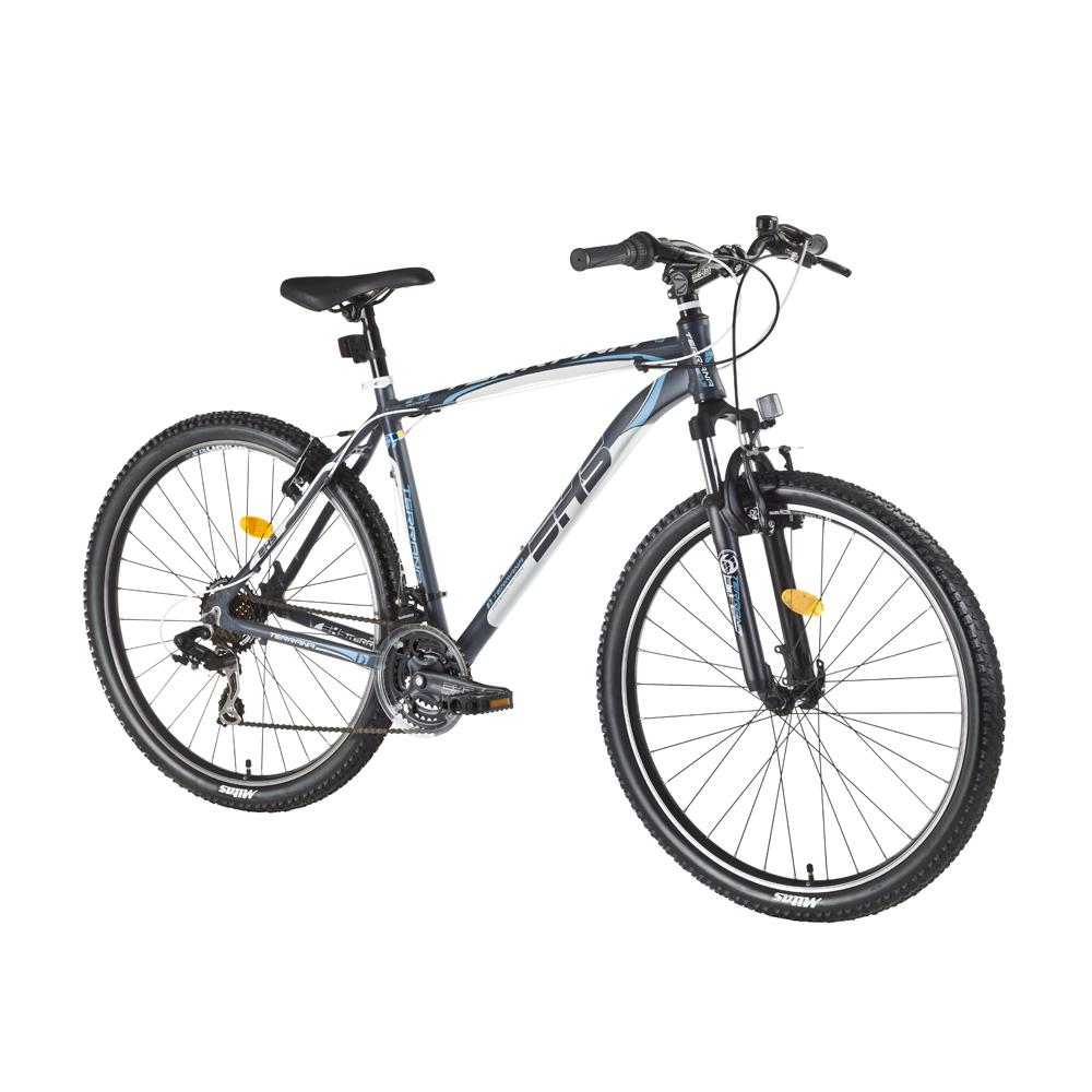 """Horský bicykel DHS Terrana 2723 27,5"""" - model 2016 Gray-White-Blue - 19,5"""" - Záruka 10 rokov"""