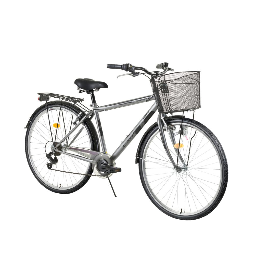 "Trekingový bicykel DHS Citadinne 2833 28"" - model 2017 Grey - 20,5"" - Záruka 10 rokov"