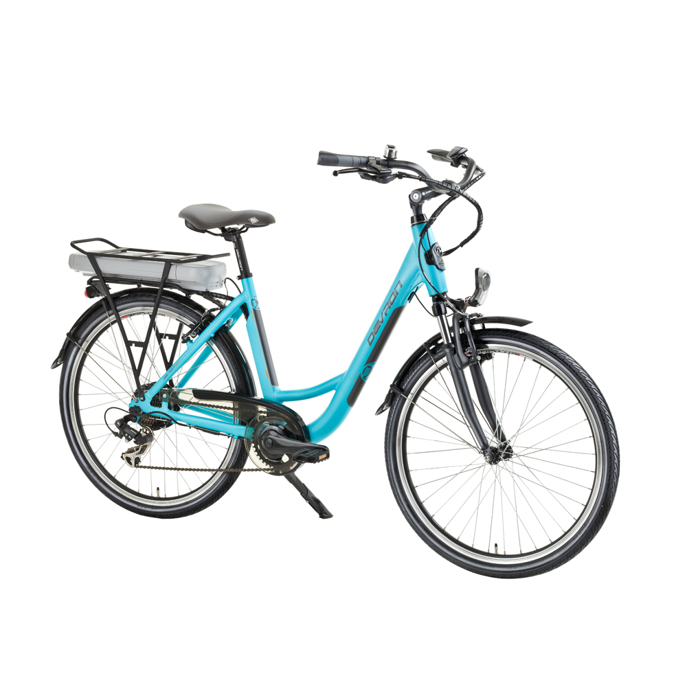 "Mestský elektrobicykel Devron 26122 - model 2016 Baby Blue - 18"" - Záruka 10 rokov"