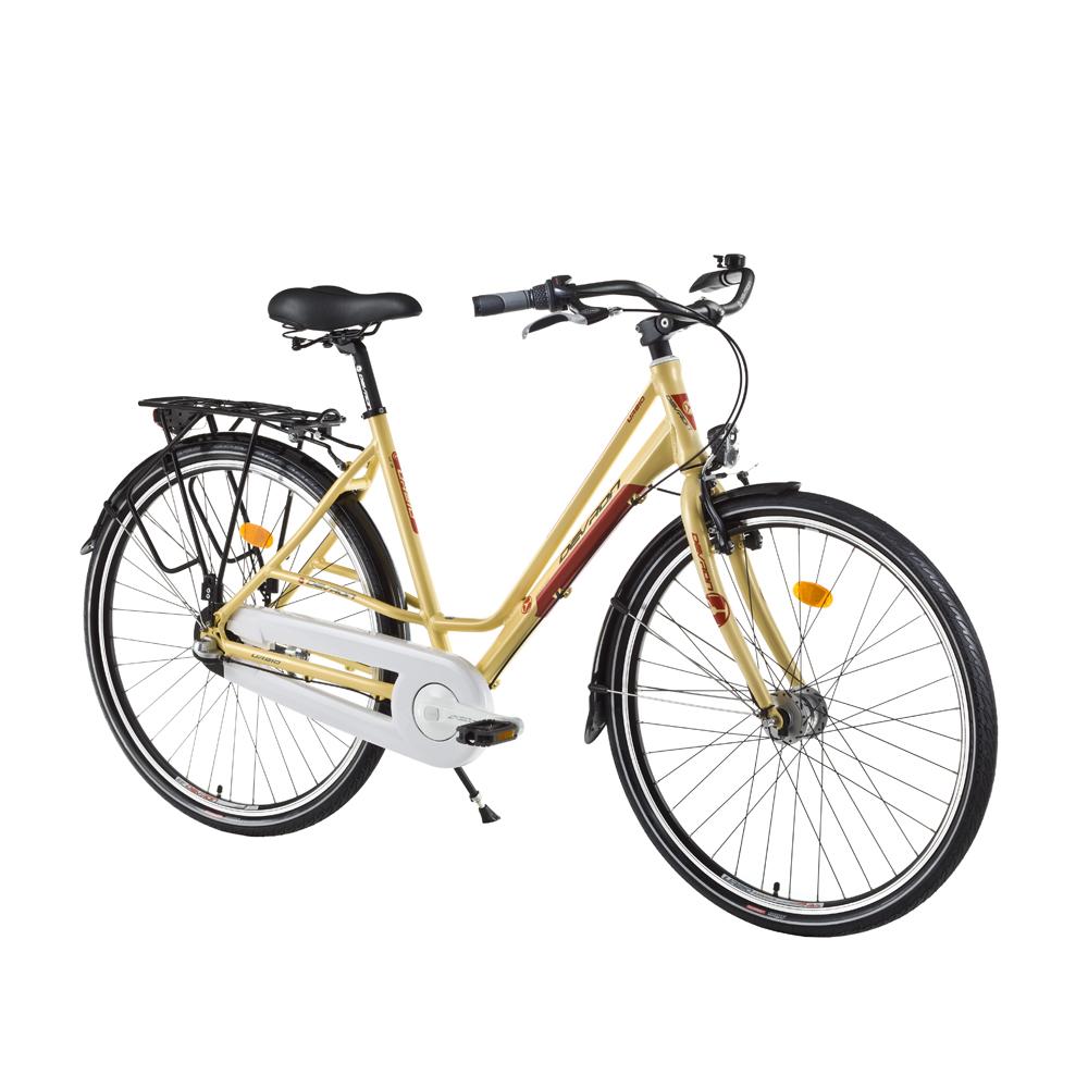 "Dámsky mestský bicykel Devron Urbio LC1.8 - model 2016 Antique Brass - 20,5"" - Záruka 10 rokov"