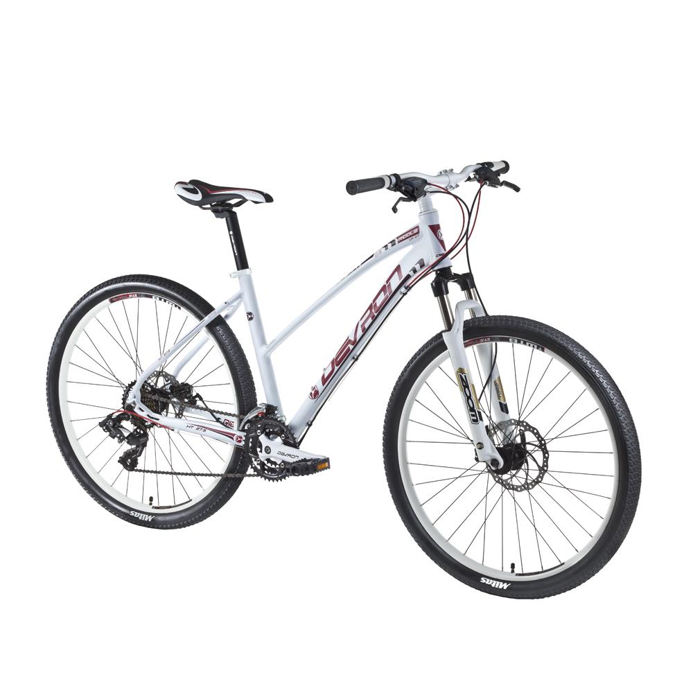"Dámsky horský bicykel Devron Riddle LH1.7 27,5"" - model 2016 Crimson White - 18"" - Záruka 10 rokov"