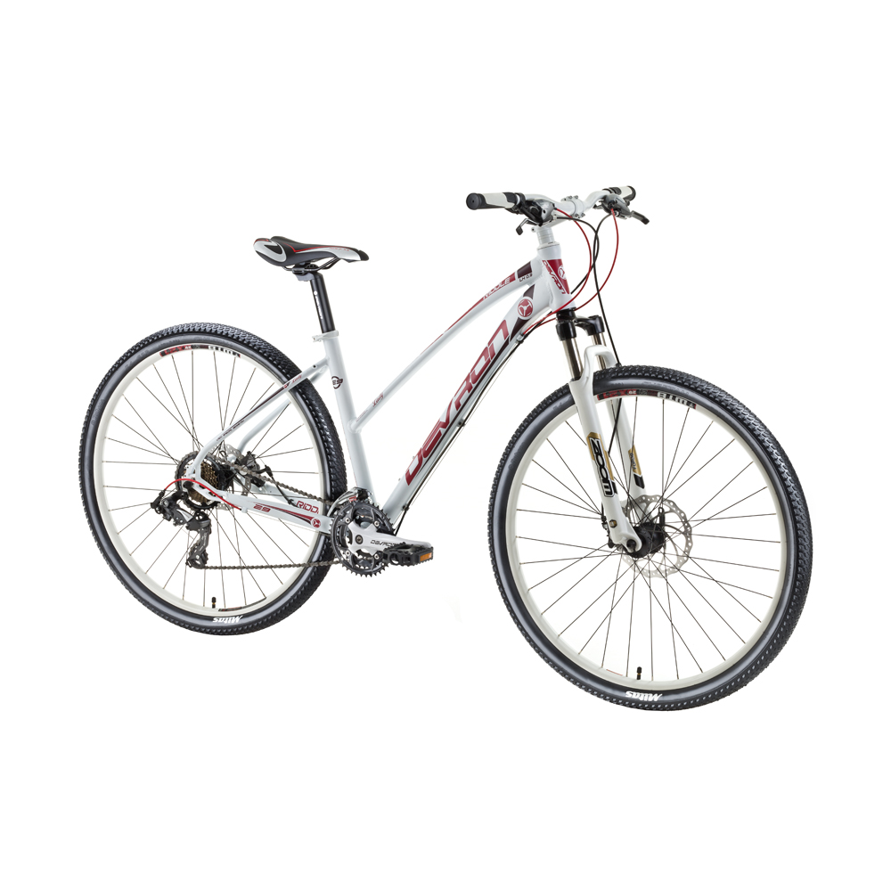 "Dámsky horský bicykel Devron Riddle LH0.9 29"" - model 2016 Crimson White - 18"" - Záruka 10 rokov"