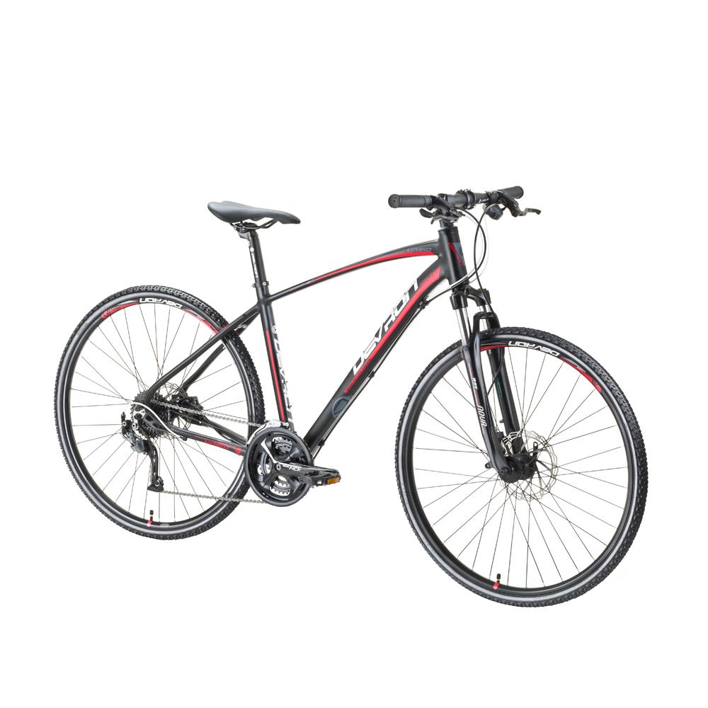"Crossový bicykel Devron Urbio K3.8 - model 2016 Speed Black - 19"" - Záruka 10 rokov"