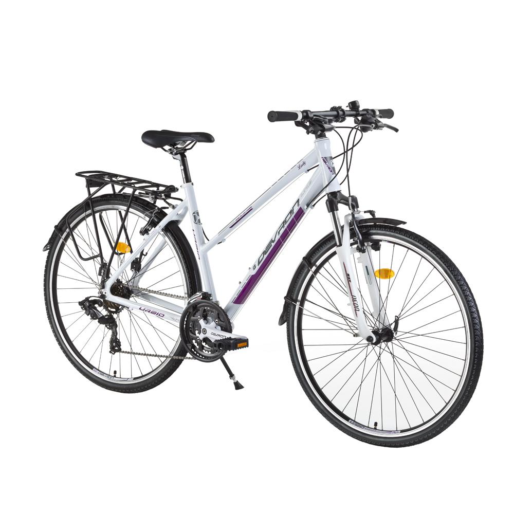 "Dámsky trekingový bicykel Devron Urbio LT1,8 - model 2016 Ivory White - 21"" - Záruka 10 rokov"