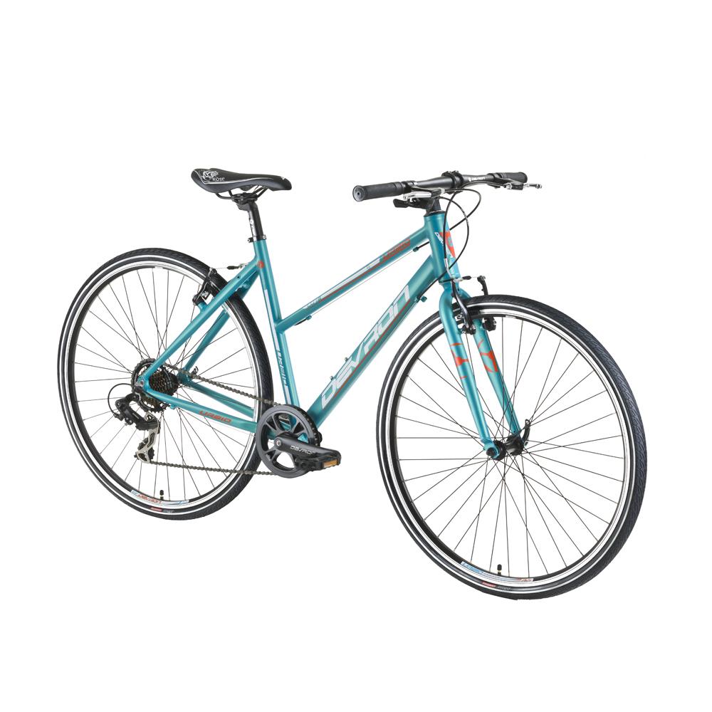 """Dámsky crossový bicykel Devron Urbio LU1.8 - model 2016 Baby Blue - 19,5"""" - Záruka 10 rokov"""