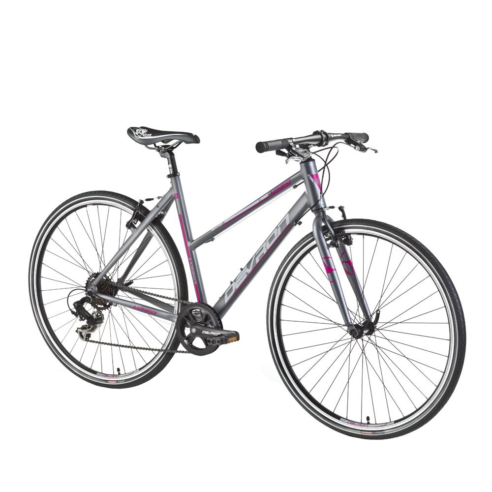 """Dámsky crossový bicykel Devron Urbio LU1.8 - model 2016 Ruby Mist - 20,5"""" - Záruka 10 rokov"""