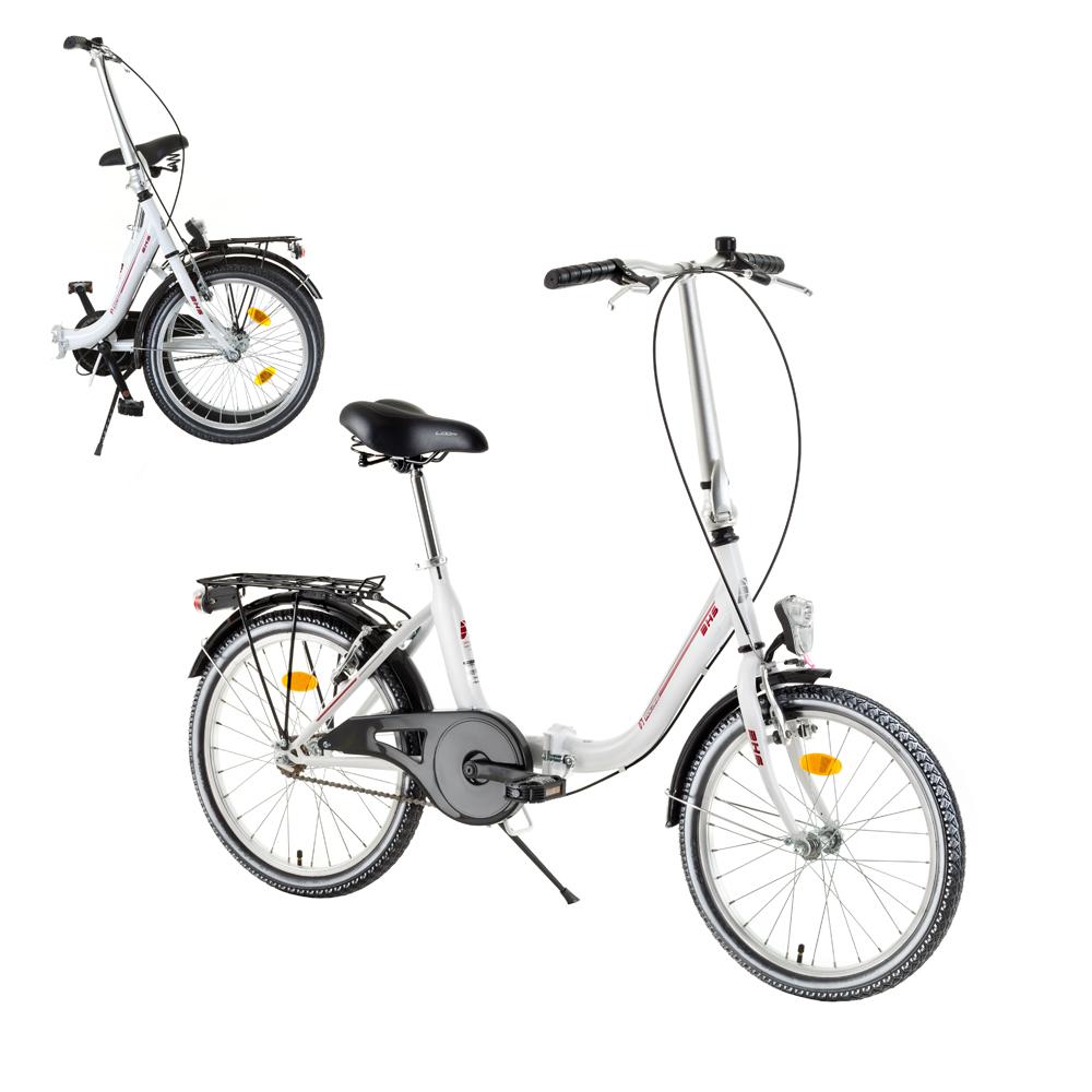 "Skladací bicykel DHS Folder 2092 20"" - model 2017 White - Záruka 10 rokov"