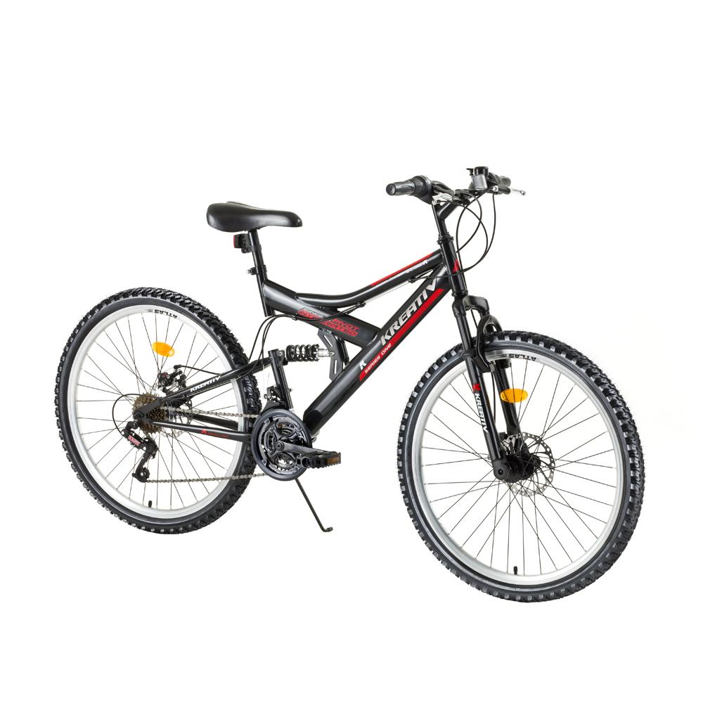 "Celoodpružený bicykel Kreativ 2643 26"" - model 2017 Black Grey - Záruka 10 rokov"