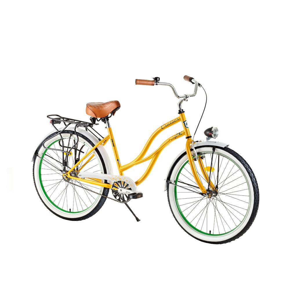 """Dámsky mestský bicykel DHS Cruiser 2696 26"""" - model 2017 Creme - 19,5"""" - Záruka 10 rokov"""