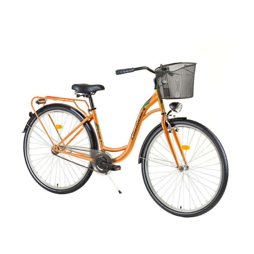 """Mestský bicykel DHS Citadinne 2832 28"""" - model 2017 Orange - 17,5"""" - Záruka 10 rokov"""
