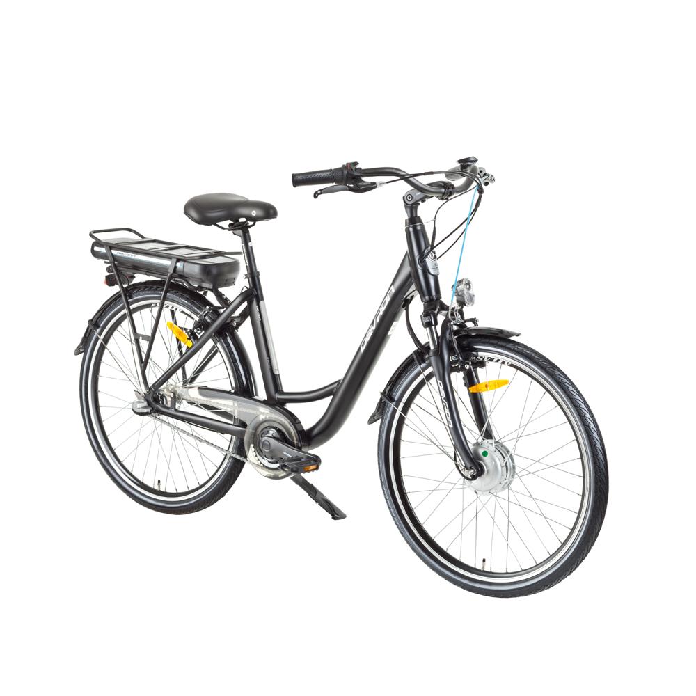 "Mestský elektrobicykel Devron 26120 26"" - model 2017 Black - 18"" - Záruka 10 rokov"