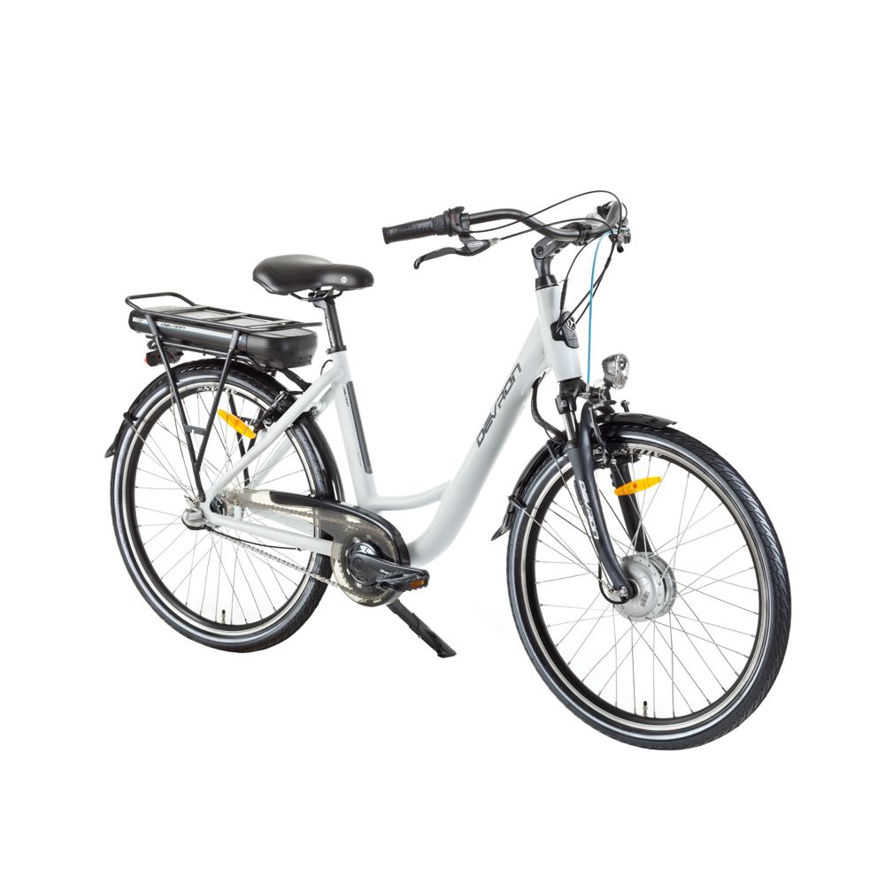 """Mestský elektrobicykel Devron 26120 26"""" - model 2017 White - 18"""" - Záruka 10 rokov"""
