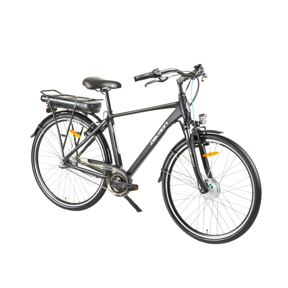"Mestský elektrobicykel Devron 28121 28"" - model 2017 Black - 19,5"" - Záruka 10 rokov"