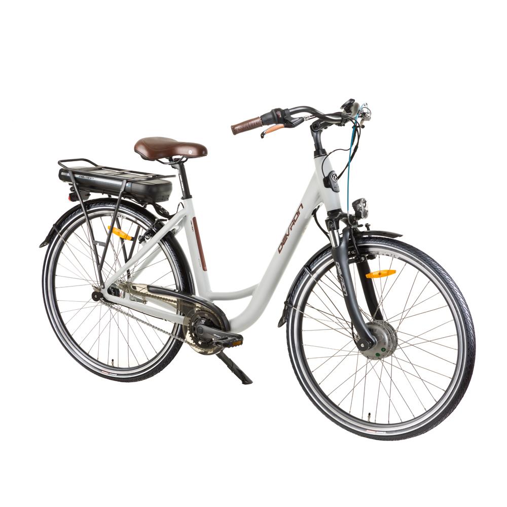"""Mestský elektrobicykel Devron 28120 28"""" - model 2017 White - 19,5"""" - Záruka 10 rokov"""