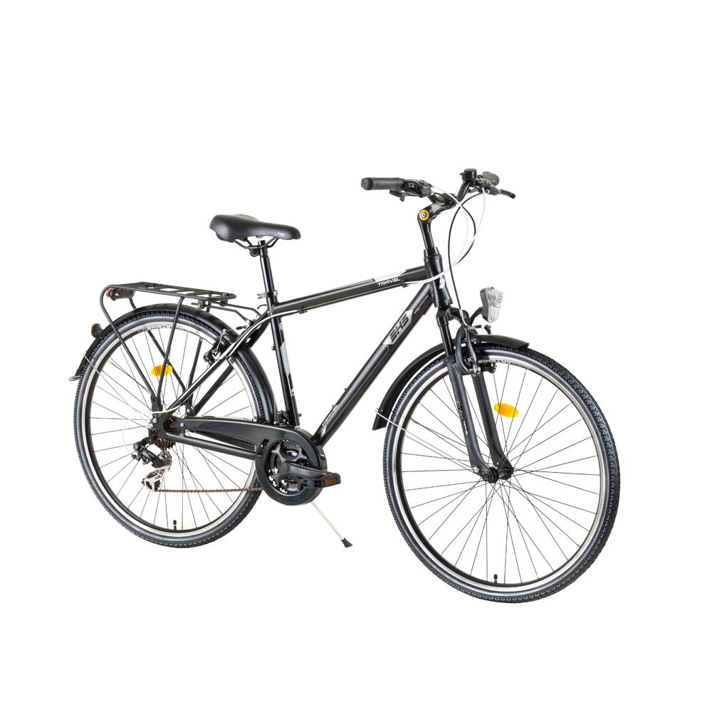 """Pánsky trekingový bicykel DHS Travel 2855 28"""" - model 2017 Black - 495 mm (19,5"""") - Záruka 10 rokov"""