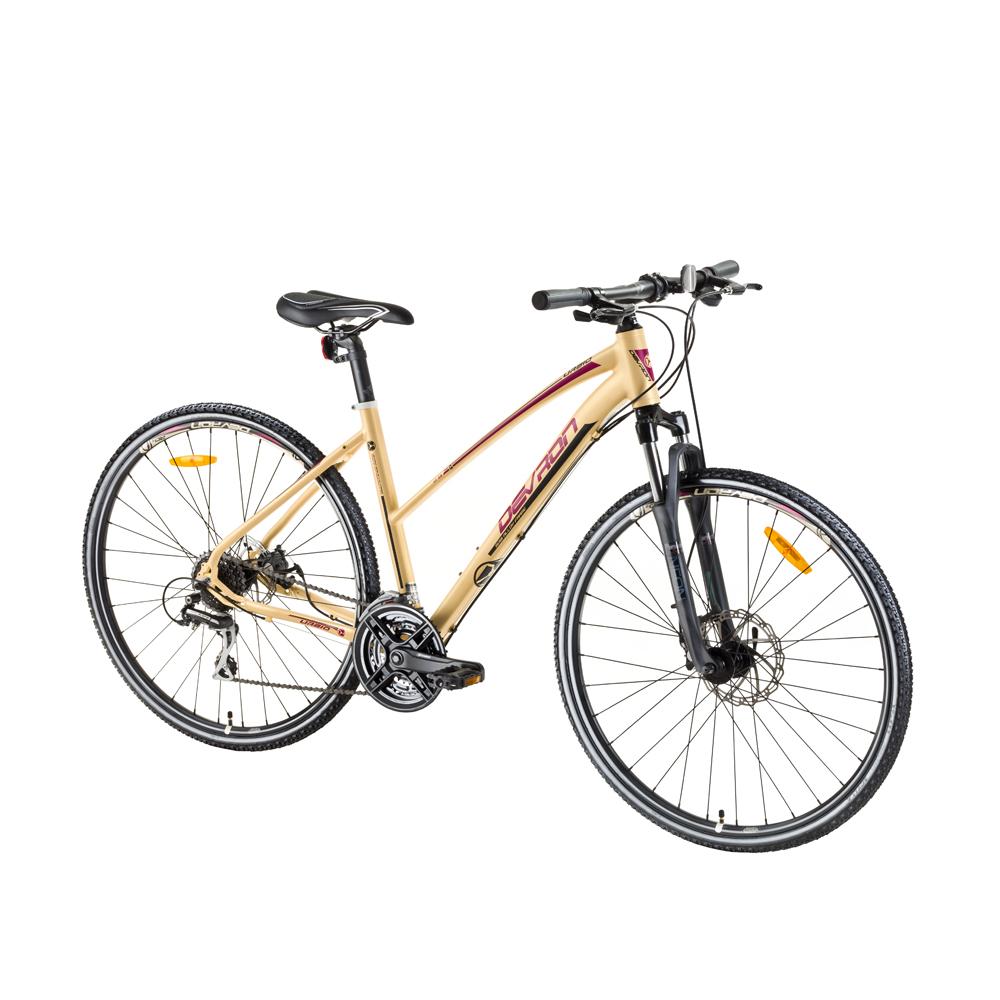 """Dámsky crossový bicykel Devron Urbio LK2.8 - model 2017 Pancake Dream - 19"""" - Záruka 10 rokov"""