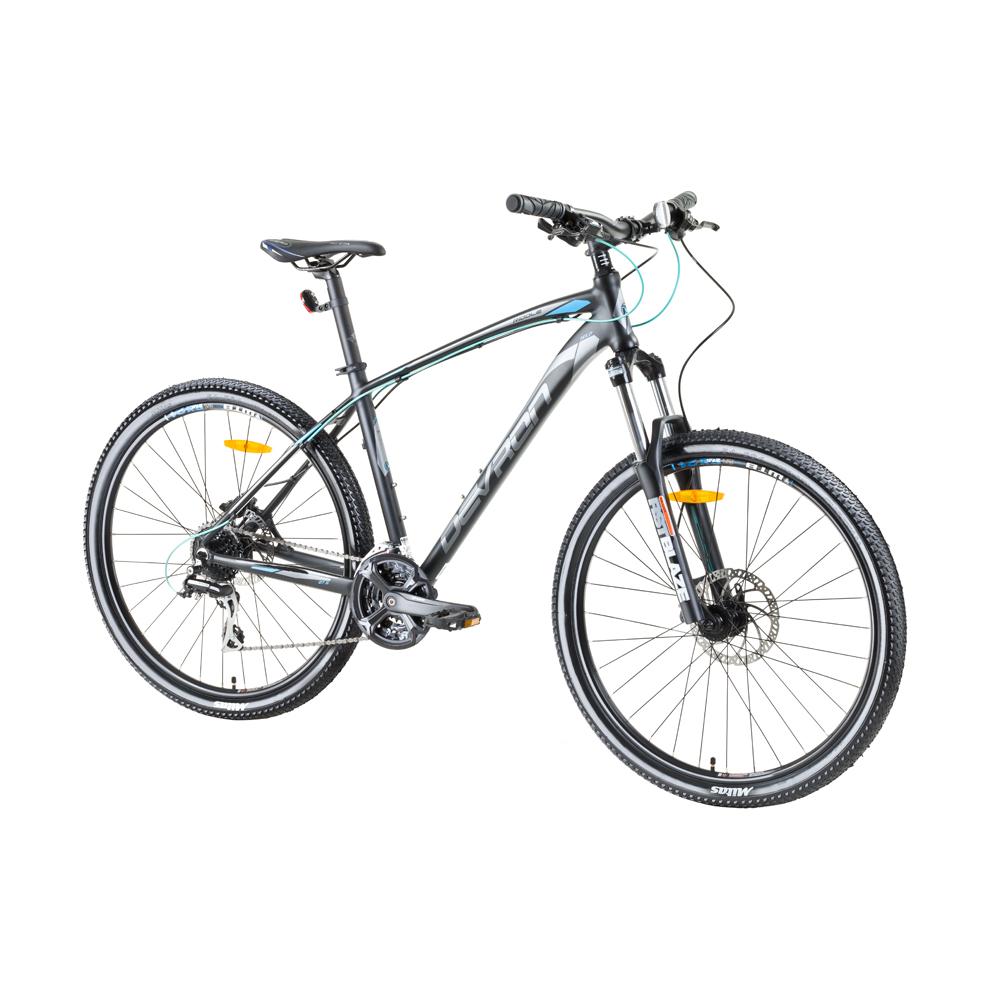"Horský bicykel Devron Riddle H1.7 27,5"" - model 2017 Pure Black - 18"" - Záruka 10 rokov"