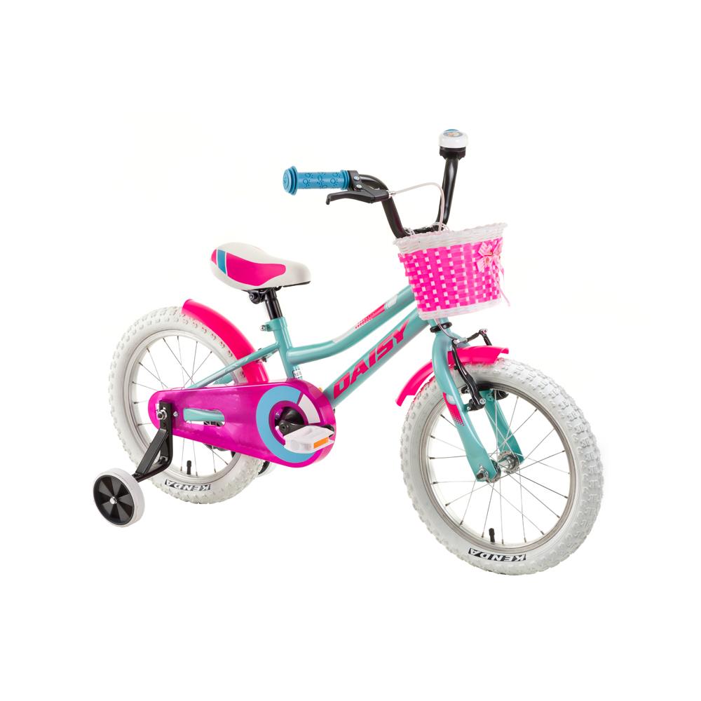 "Detský bicykel DHS Daisy 1602 16"" - model 2018 Turquoise - Záruka 10 rokov"