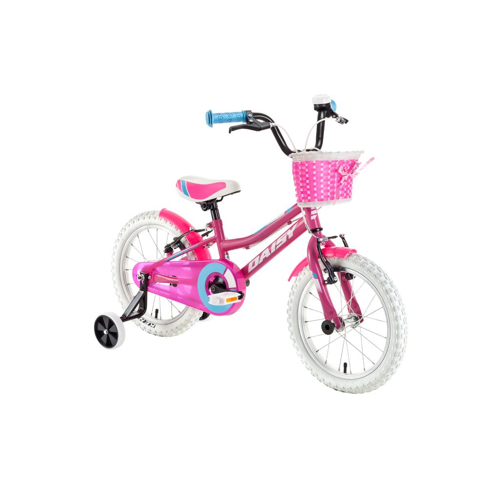 """Detský bicykel DHS Daisy 1604 16"""" - model 2018 Pink - Záruka 10 rokov"""