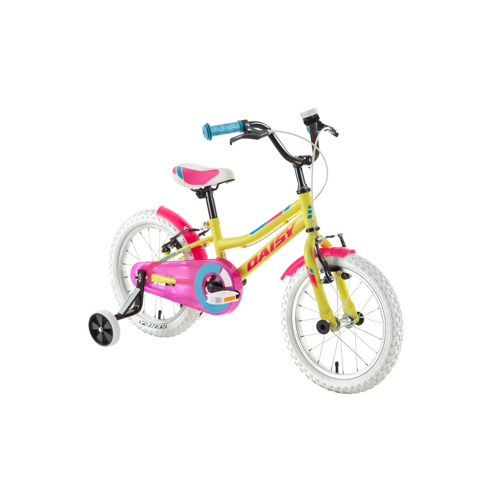 "Detský bicykel DHS Daisy 1604 16"" - model 2018 Yellow - Záruka 10 rokov"