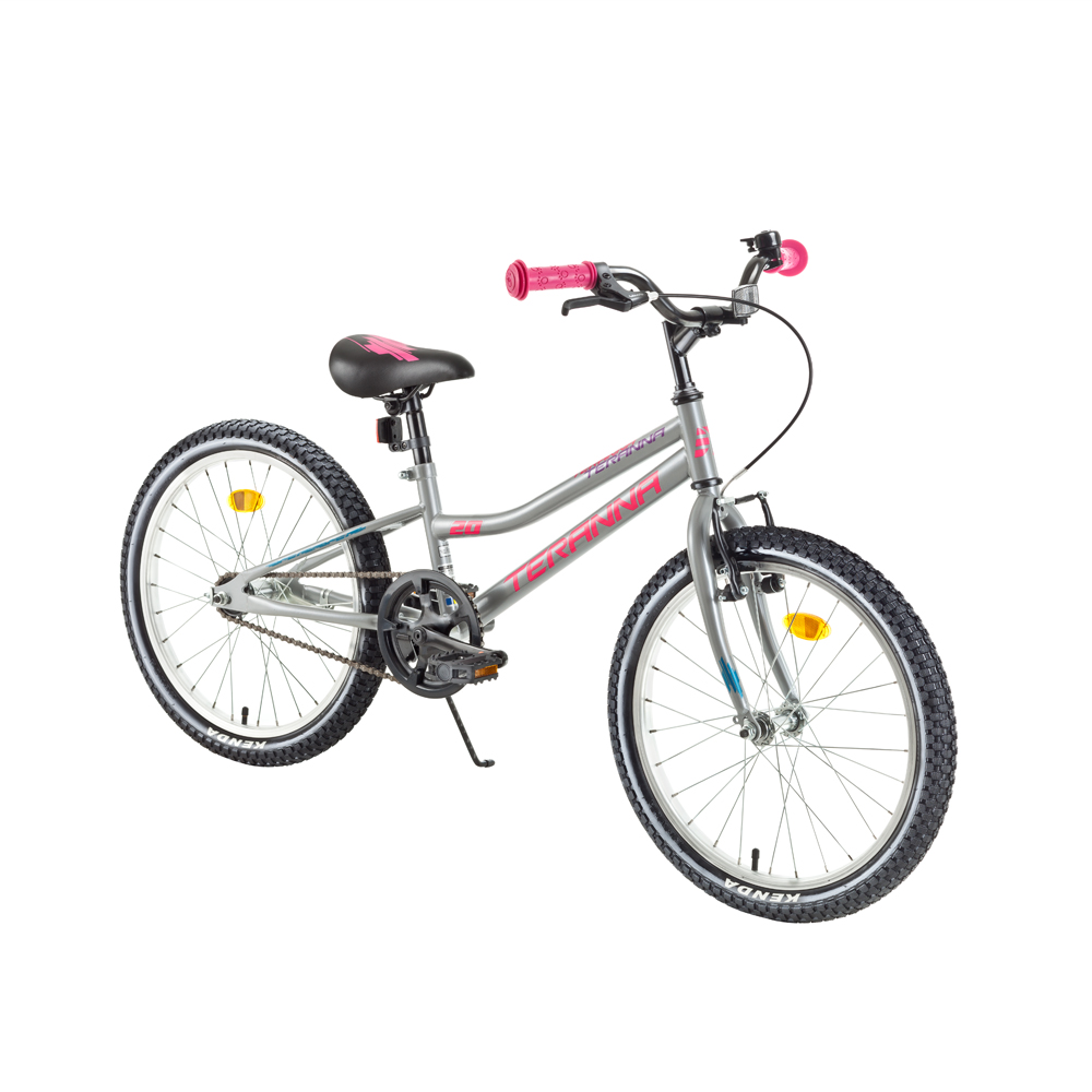 """Detský bicykel DHS Teranna 2002 20"""" 3.0 Pearl Light Gray - Záruka 10 rokov"""