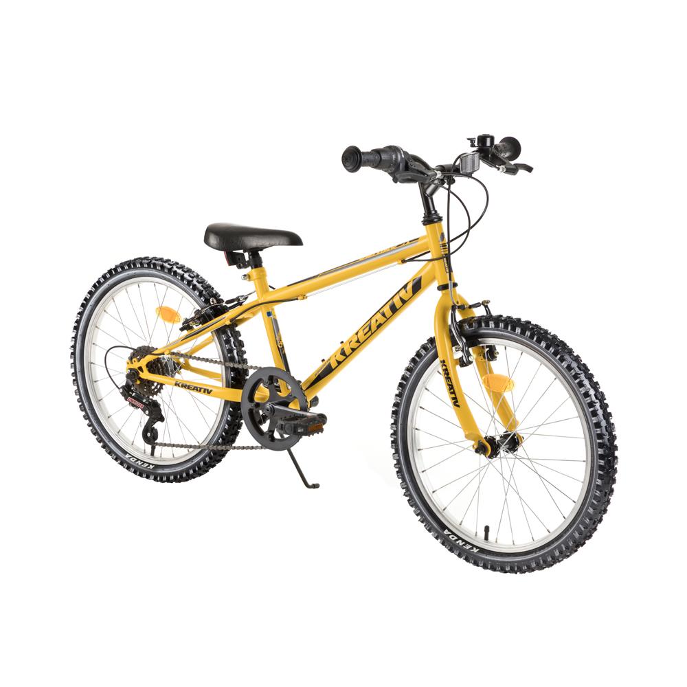 "Detský bicykel Kreativ 2013 20"" - model 2018 Yellow - Záruka 10 rokov"