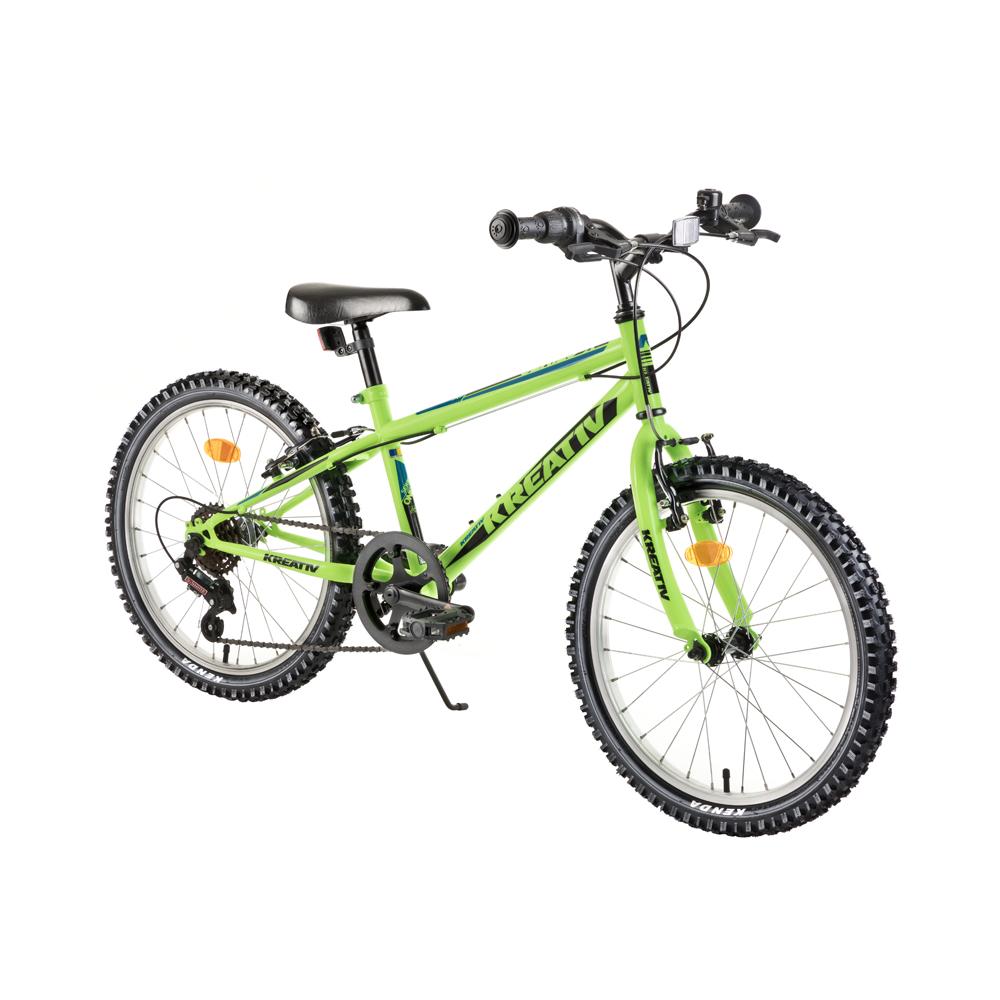 "Detský bicykel Kreativ 2013 20"" - model 2018 Green - Záruka 10 rokov"