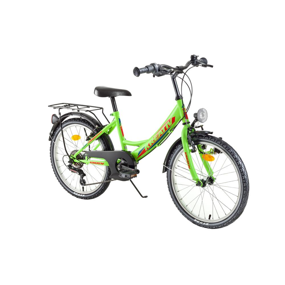 "Detský bicykel Kreativ 2014 20"" - model 2018 Yellow Neon - Záruka 10 rokov"