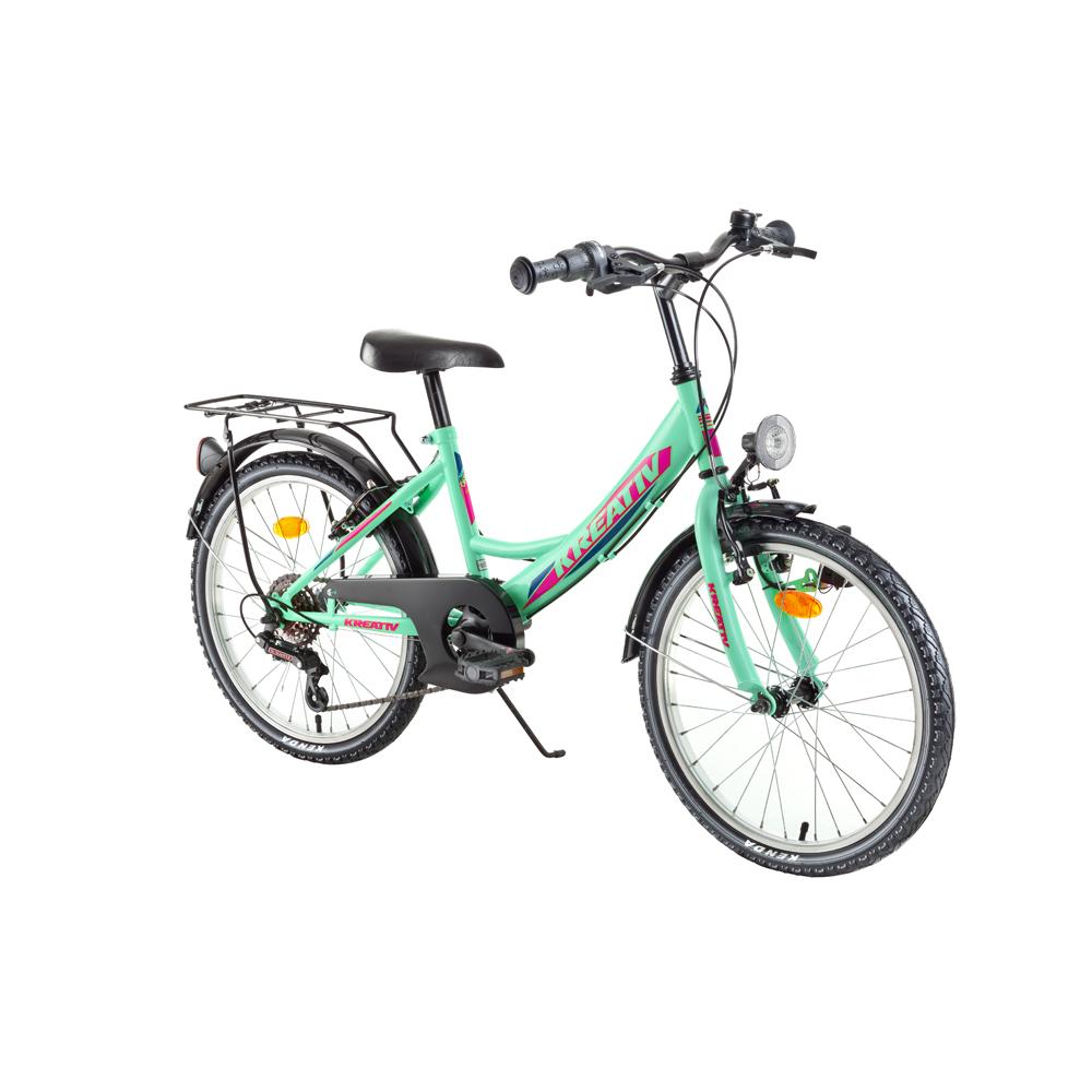 "Detský bicykel Kreativ 2014 20"" - model 2018 Turquoise - Záruka 10 rokov"