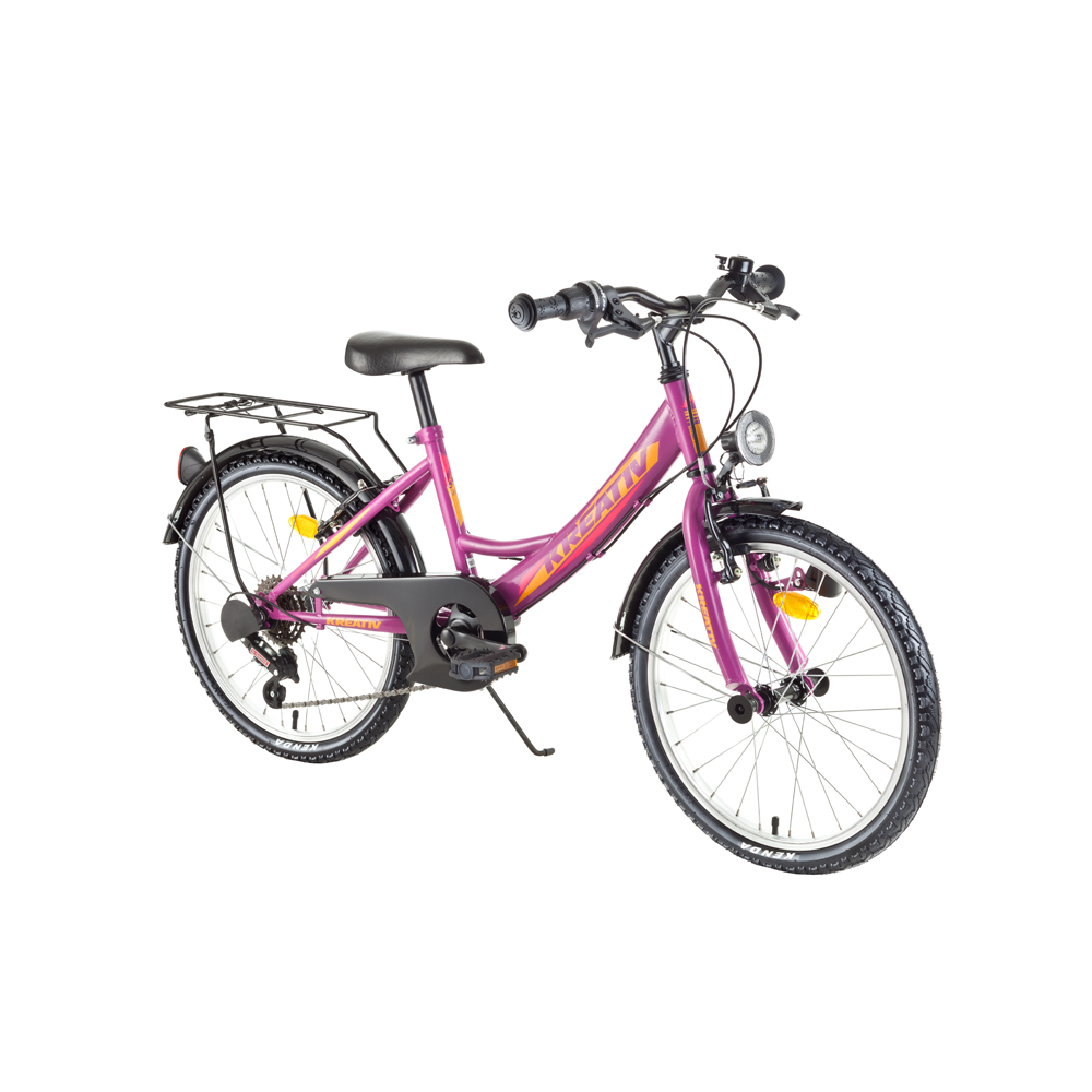 "Detský bicykel Kreativ 2014 20"" - model 2018 Violet - Záruka 10 rokov"