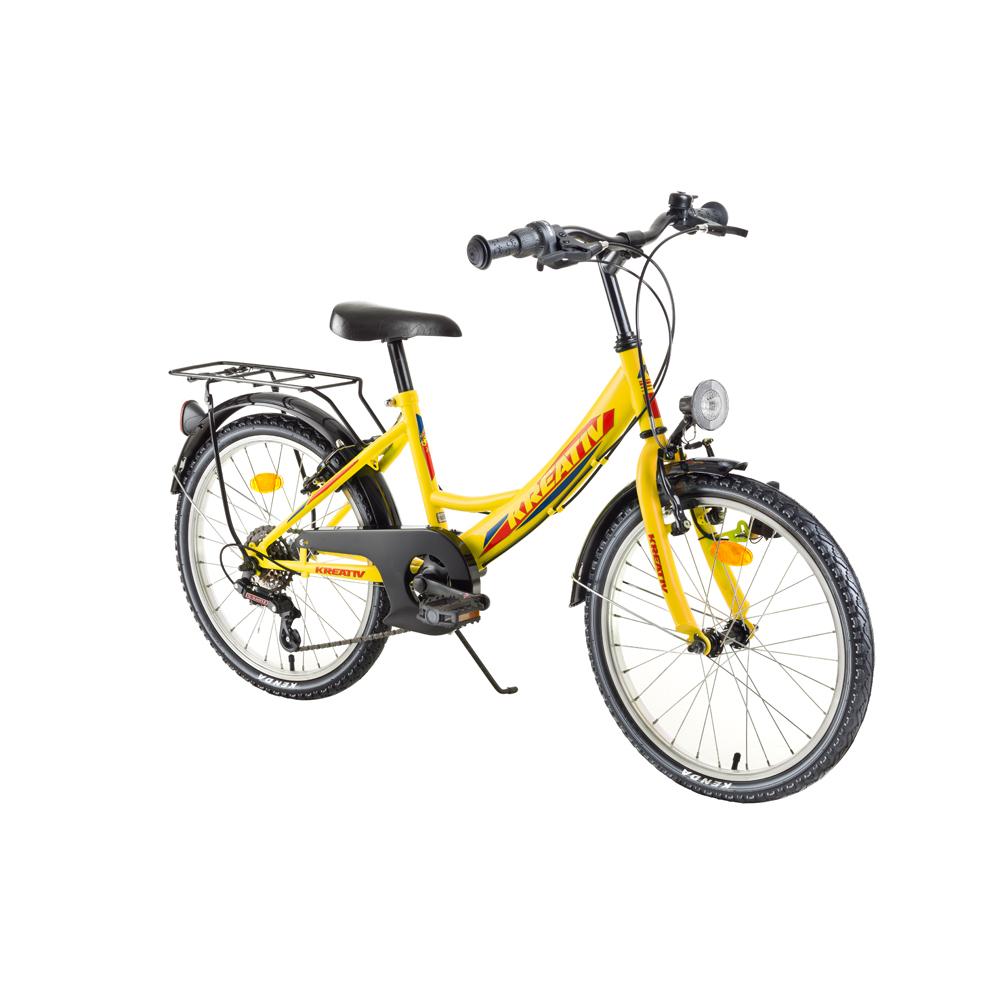 "Detský bicykel Kreativ 2014 20"" - model 2018 Yellow - Záruka 10 rokov"