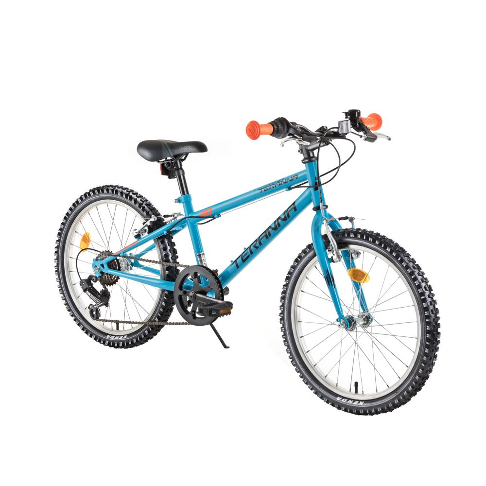 "Detský bicykel DHS Teranna 2021 20"" - model 2018 Light Blue - Záruka 10 rokov"