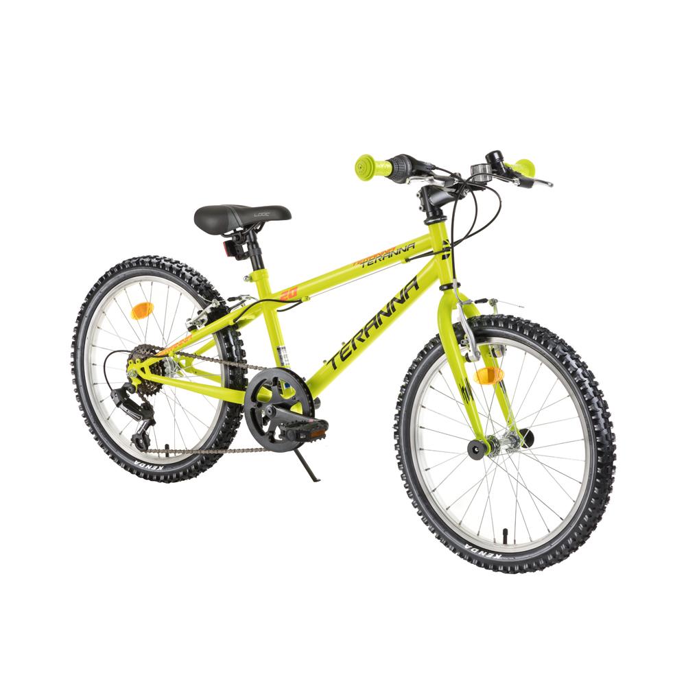 "Detský bicykel DHS Teranna 2021 20"" - model 2018 Light Green - Záruka 10 rokov"