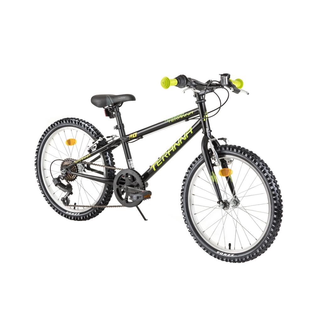 """Detský bicykel DHS Teranna 2021 20"""" - model 2018 Black - Záruka 10 rokov"""