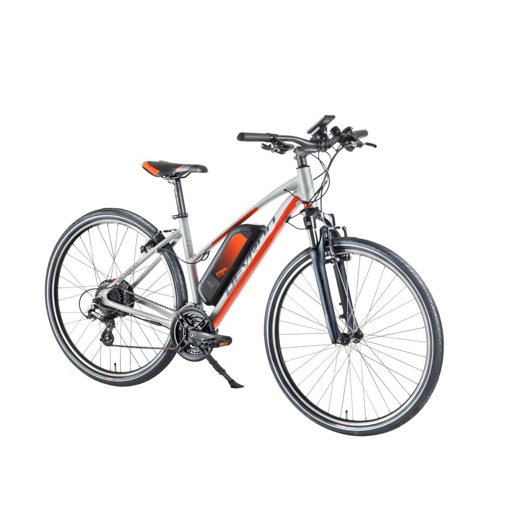 """Dámsky crossový elektrobicykel Devron 28162 28"""" - model 2018 Silver - 18"""" - Záruka 10 rokov"""