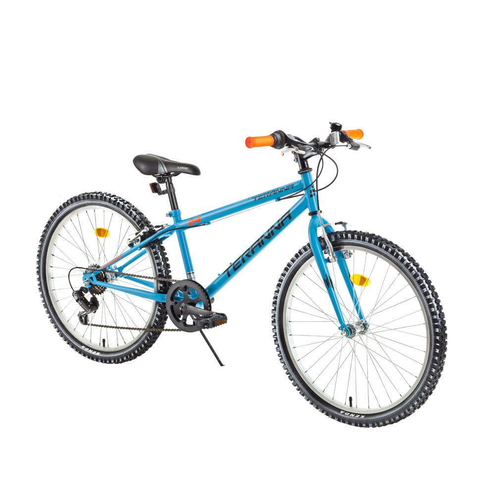 "Juniorský bicykel DHS Teranna 2421 24"" - model 2018 Light Blue - Záruka 10 rokov"