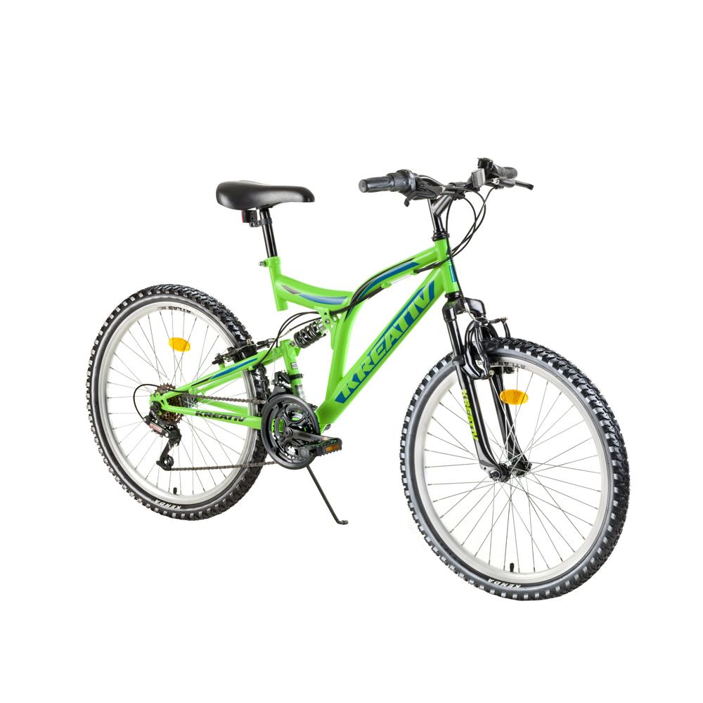Juniorský celoodpružený bicykel Kreativ 2441 24