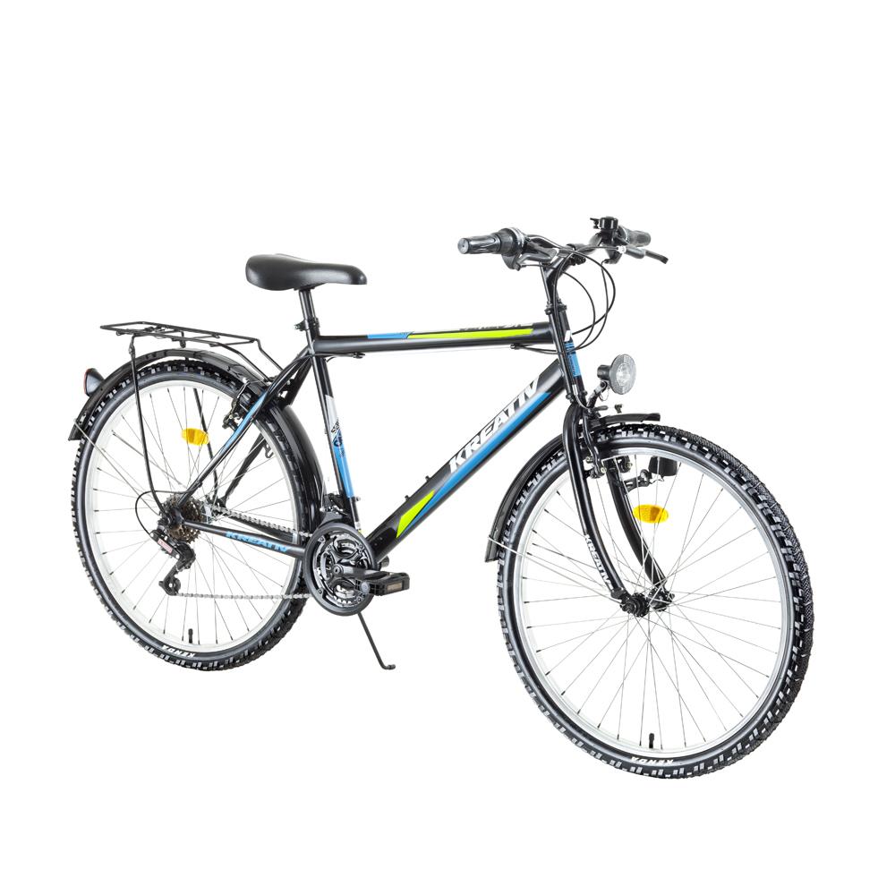 "Trekingový bicykel Kreativ 2613 26"" - model 2018 Black - Záruka 10 rokov"