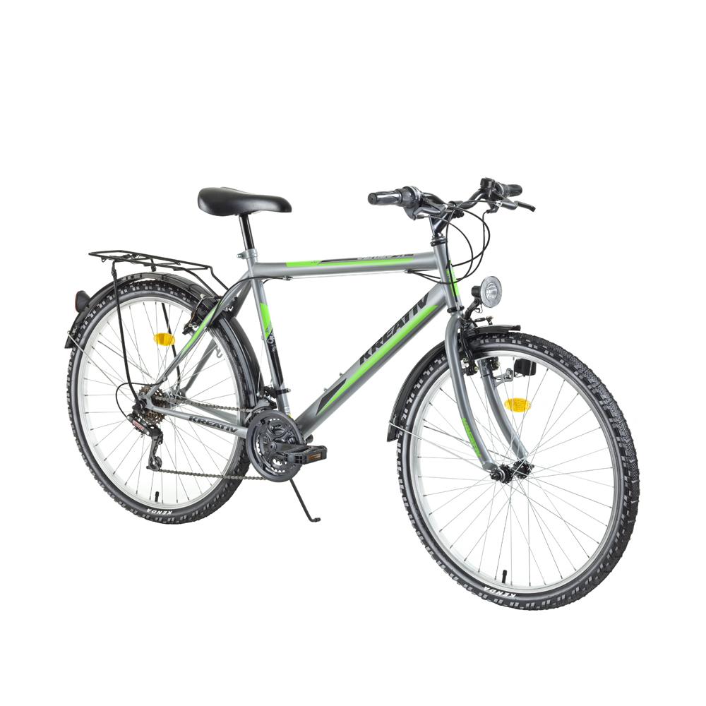 "Trekingový bicykel Kreativ 2613 26"" - model 2018 Grey - Záruka 10 rokov"