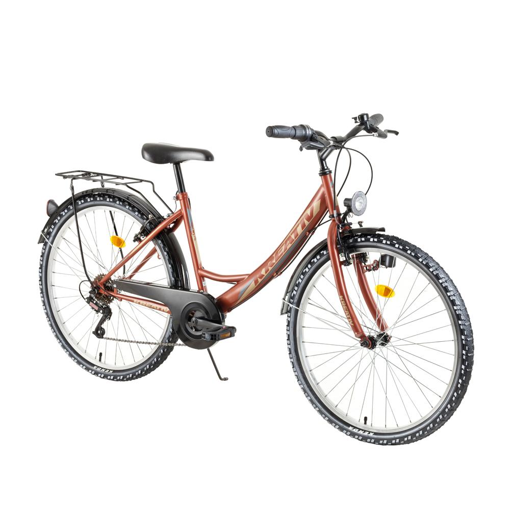 """Dámsky trekingový bicykel Kreativ 2614 26"""" - model 2018 Pearl Copper - Záruka 10 rokov"""