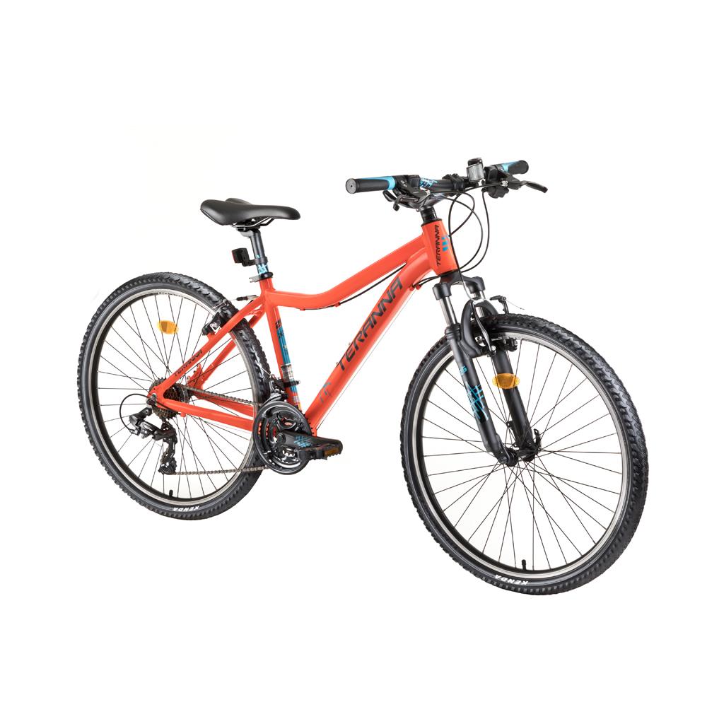 """Dámsky horský bicykel DHS Teranna 2622 26"""" - model 2018 Orange - 17,5"""" - Záruka 10 rokov"""