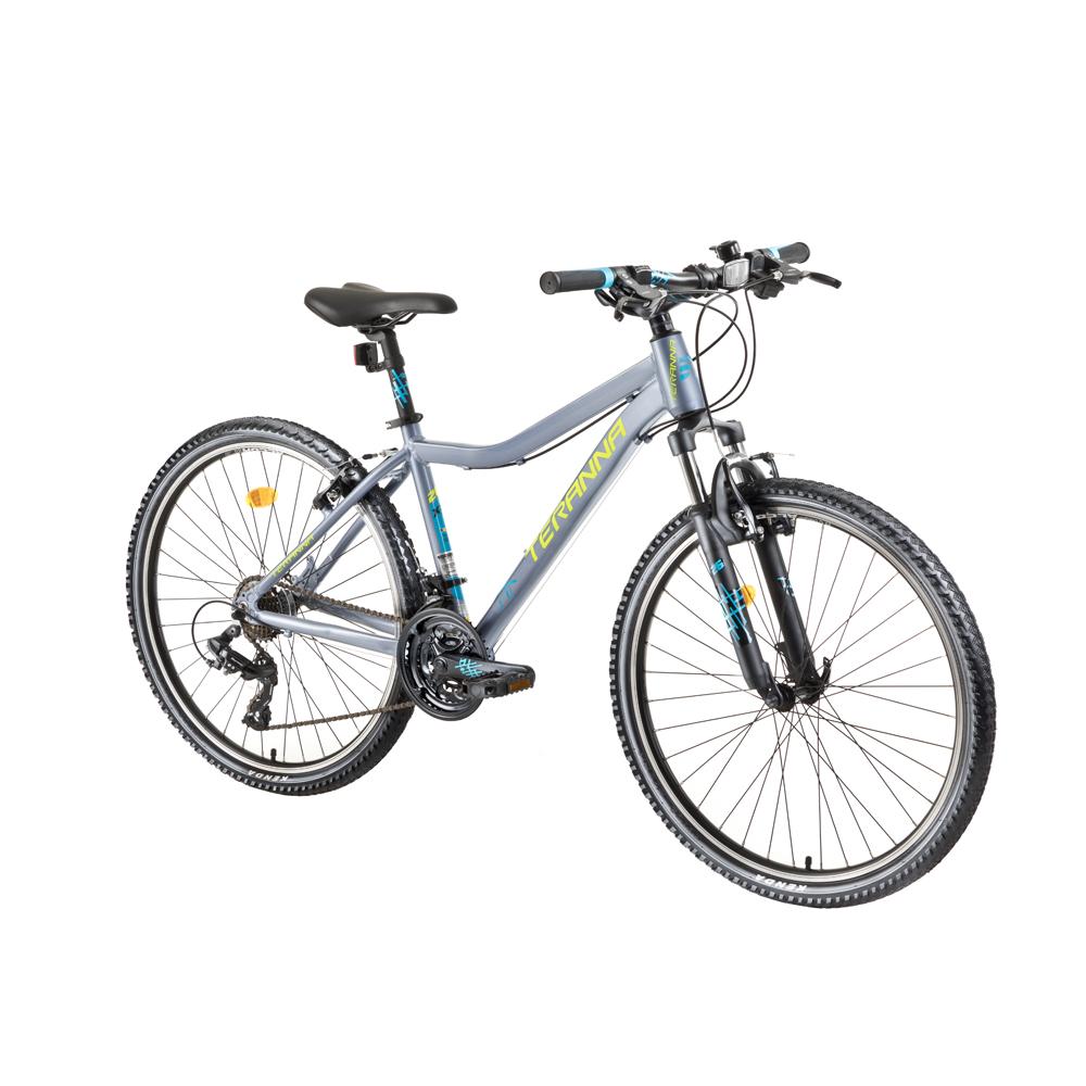"""Dámsky horský bicykel DHS Teranna 2622 26"""" - model 2018 Silver - 17,5"""" - Záruka 10 rokov"""