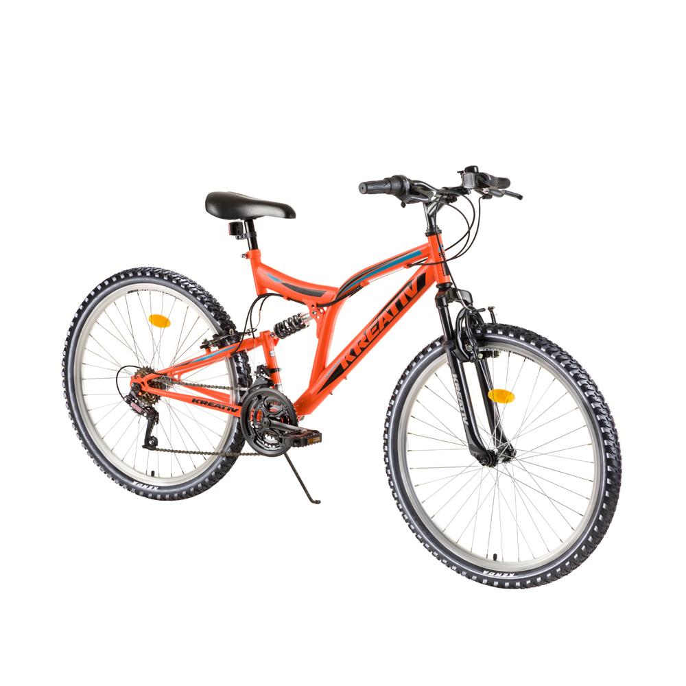 "Celoodpružený bicykel Kreativ 2641 26"" - model 2018 Orange - Záruka 10 rokov"