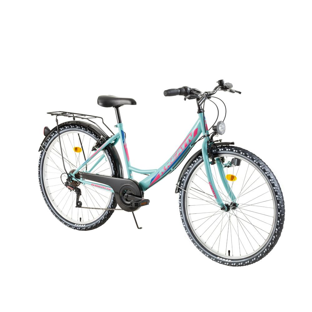 "Dámsky trekingový bicykel Kreativ 2614 26"" - model 2018 Green - Záruka 10 rokov"