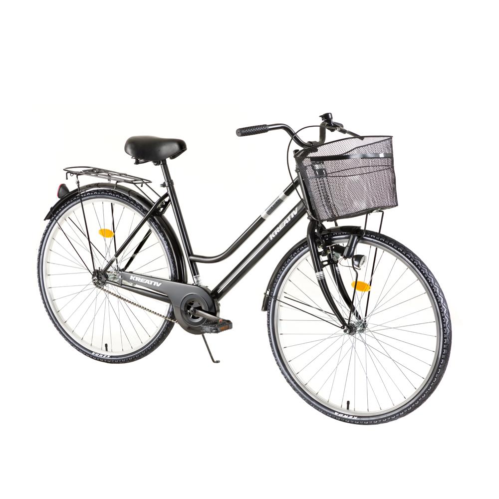 "Dámsky trekingový bicykel Kreativ Comfort 2812 28"" - model 2018 Black - Záruka 10 rokov"