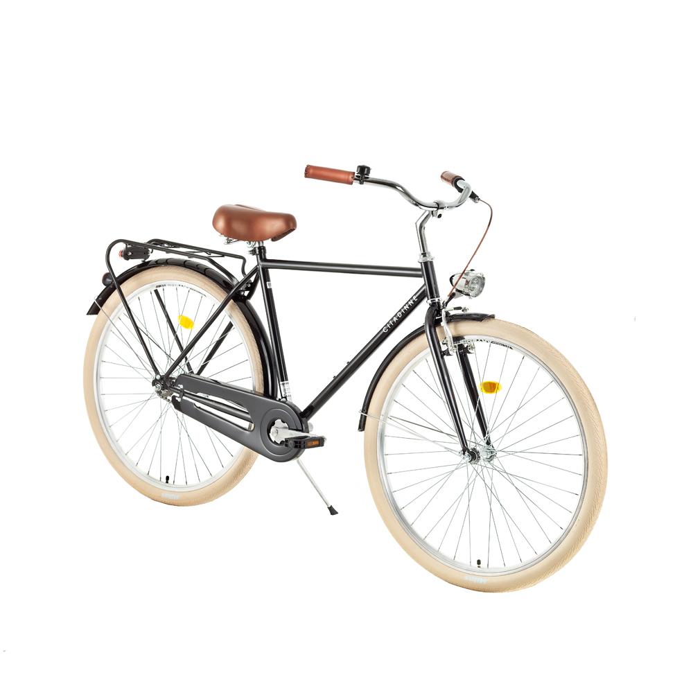 "Mestský bicykel DHS Citadinne 2831 28"" - model 2018 Black - 21"" - Záruka 10 rokov"